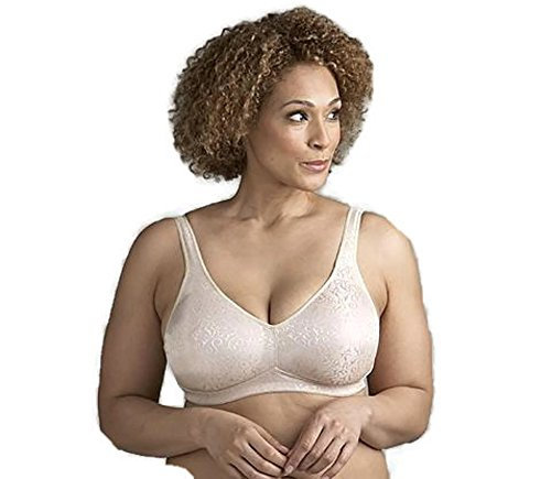 Exquisite Form Women's Molded Cup Full Figure Wirefree Bra, Damask, 40D