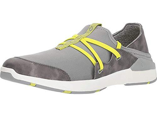 OLUKAI Miki Li Women's Walking/Water Comfort Shoe with Arch Support (8.5 B US, Pale Grey/Charcoal)