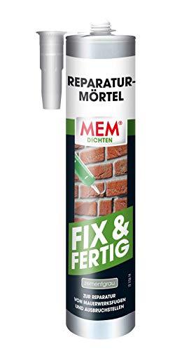 MEM Reparatur-Mörtel Fix Fretig- 300 ml - gebrauchsfertiger Mörtel - ideal zur Ausbesserung von Mauerwerksfugen und Put - exzellente Haftung auf mineralischen, baulichen Untergründen - 30836813