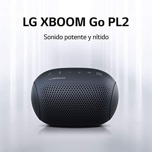 LG XBOOM Go PL2 Azul Marino - Altavoz Bluetooth de 5W de Potencia con Sonido Meridian, autonomía 10 Horas, Bluetooth 5.0, protección IPX5, USB-C, comandos de Voz Google y Siri