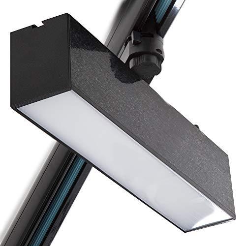 Greenice | Foco Carril LED Lineal Trifásico 12W Negro CCT Ajustable