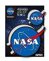 NASAステッカー NASA ブラック ミートボール ロゴ エンブレム 宇宙 スペースシャトル NASA039 グッズ