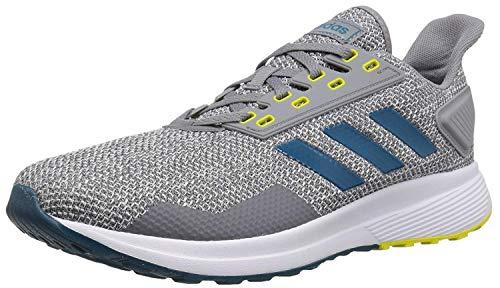 adidas Men's Duramo 9 Running Shoe, Grey/Real Teal/White, 11.5 M US