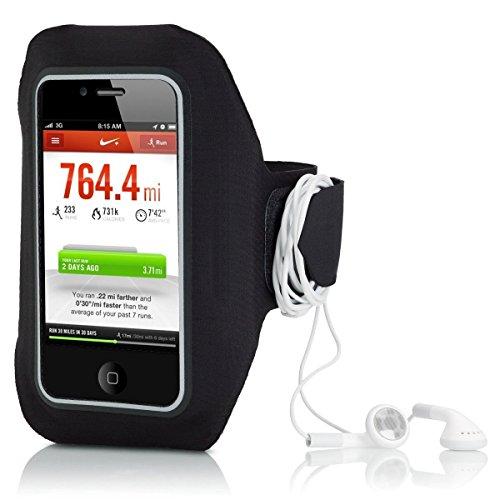 VeloChampion Brassard Sport pour Apple iPhone - Noir - Black Sports Jogging Gym Armband for Apple Iphone