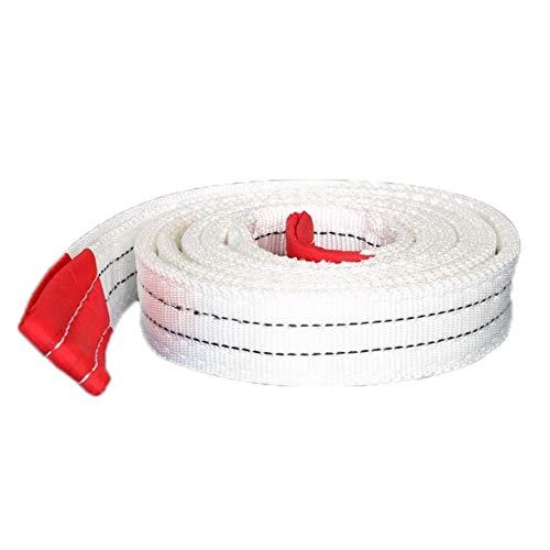 QDTD Abschleppseil, 10 Tonnen 10000 kg Abschleppen Zugseil Gurt Hochleistungs-Straßenrettungsanhänger Seillänge 3 Meter