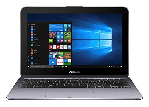 Asus VivoBook Flip 12 TP203NAH-BP054T 29,4 cm (11,6 Zoll HD Touch) Convertible Laptop (Intel Celeron N3350, 4GB RAM, 1TB HDD, Intel HD Graphics, Win 10 Home) grau