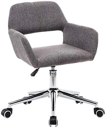 Sillones de cuero del respaldo ajustables respaldo ajustable, sin brazos sencilla backplane tela movimientos sillón de oficina administrativa,Grey