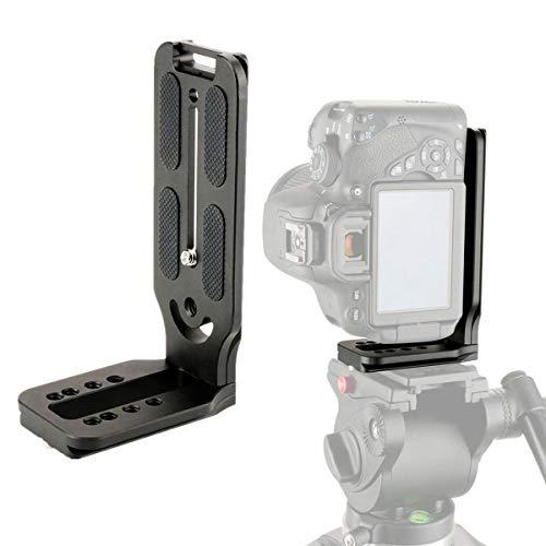 Neewer L Shape Bracket Vertical QR Plate Universal DSLR Camera L Bracket with 1//4 Inch Screw Arca Swiss Compatible with DJI Osmo Ronin Zhiyun Nikon Canon Sony DSLR Camera