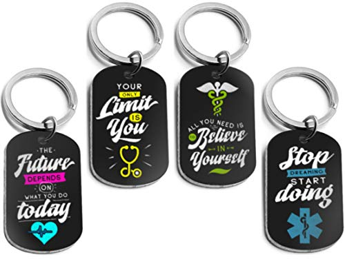 (12-Pack) Medical Inspirational Keychains for Healthcare Workers - Nurses, Doctors, Paramedics, EMTs, Medical Students - Medical Gifts in Bulk for Nurse Appreciation and Graduation