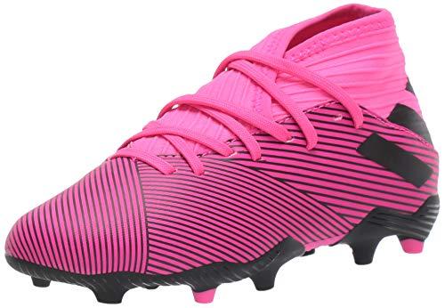 adidas Unisex-Kid's Nemeziz 19.3 Firm Ground Soccer Shoe, Shock Pink/Black/Shock Pink, 5.5 M US Big Kid