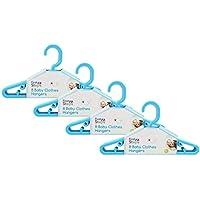 First Steps - Pack de perchas para ropa de bebé azul azul Talla:Pack of 36