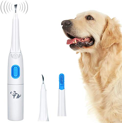 Dog Dental Stone Remover Set of 3   Sonic Toothbrush for Pets   Professional Dental Plaque Removal kit for Pets at Home or Clinic