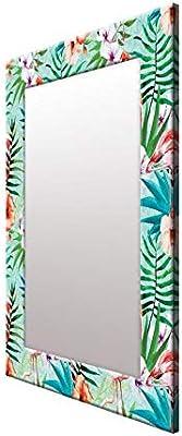 999Store Printed Multi Leaves&Flower Pattern Mirror