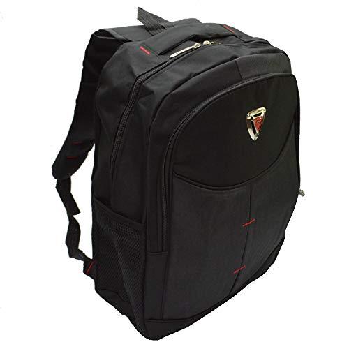 Kabana Großer Sportlicher Rucksack Schulrucksack Freizeit Wander Laptop Rucksack schwarz T-815