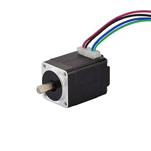 STEPPERONLINE Nema 8 Motor paso a paso Bipolar 1.8 deg 1.6 Ncm 0.2 A 20 x 20 x 28 mm 4 cables para impresora 3D, máquina CNC