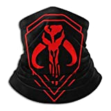 Star Wars Large Mandalorian Unisex Fleece Neck Warm Leggings Hairband Cold Weather Tube Mask Warm Neck Scarf Outdoor UV Protection Party Cover