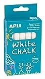 Apli- Pochette 10 craies Blanches, 014576, Multicolore, Redonda