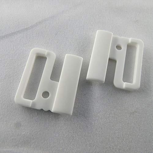 BH Bikini sluiting metaal kunststof plastic plastic plastic bikinisluiting 14/20 mm/materiaal/kleur=kunststof wit | grootte = 20 mm