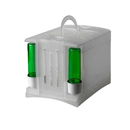 Pet Ting transportbox/reiskooi, voor vinken/kanarievogels, kunststof