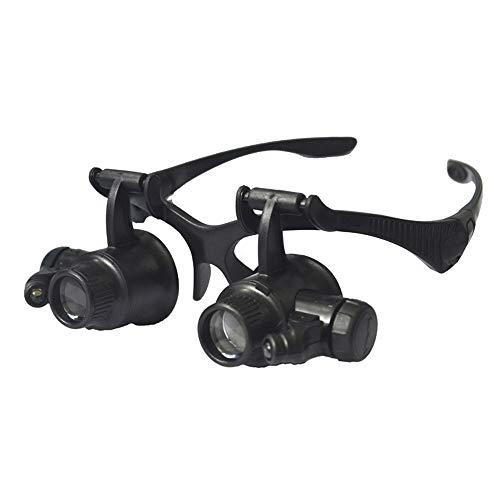 Faucet Gafas de reparación de Vidrio Lupa Reloj con lámpara LED identificación de Sellos binoculares HD con 8 Juegos de Lentes
