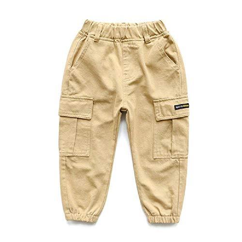 SKJJKT Abbigliamento Bambini Ragazzi Pantaloni Tempo Libero Pantaloni Per Bambini Primavera E Autunno Tuta Nuovo Medio e Grande Bambini Pantaloni Sportivi, Versione Coreana cachi 160 cm