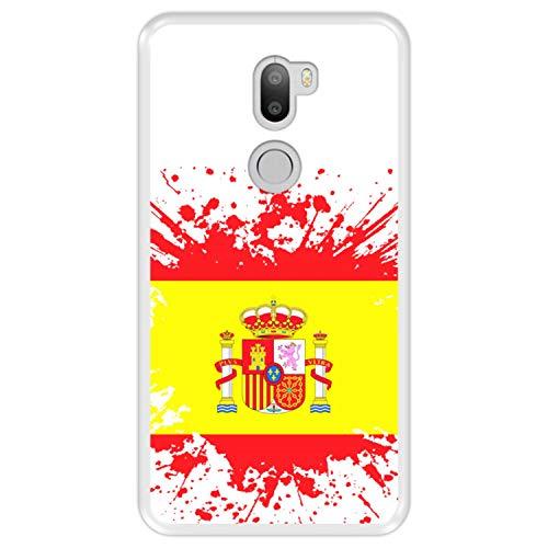 Funda Transparente para [ Xiaomi Mi5s Plus - Mi 5s Plus ] diseño [ Ilustración 1, Bandera de España ] Carcasa Silicona Flexible TPU