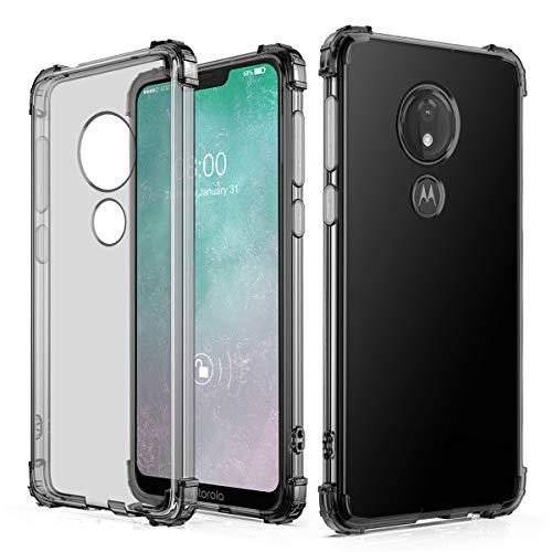 J&D Compatible para Motorola Moto G7 Power/Moto G7 Supra Funda, [Cojín de Esquina] [Ligero] [Ultra-Clear] Protector de Silicona Delgado a Los Golpes Funda - [No Para Moto G7/Moto G7 Plus/Moto G7 Play]