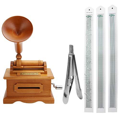 Ladieshow Grammofono Carillon Carillon Vintage Manovella Carillon Regali di Natale di Compleanno Fai...