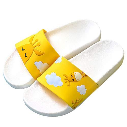 ZMDSGZ Sandalen Flip Flops Cartoon Obst Frauen Hausschuhe Wassermelone Banane Home Hausschuhe Sommersandalen Rutschen Frauen Schuhe Flip Flops Sandalias-Giraffe
