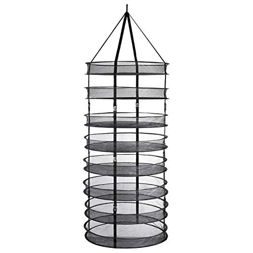 BADASS SHARKS 8 Couches Filet de séchage Pliable en Maille Filet pour Suspendre l'eau Culture Tent Herb Bud Plant Séchage Rack Net