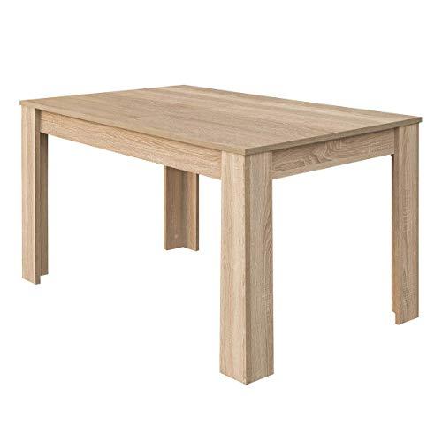 Habitdesign Mesa de Comedor Extensible, Mesa salón o Cocina, Acabado en Color Roble Canadian, Modelo Kendra, Medidas: 140-190 cm (Largo) x 90 cm (Ancho) x 78 cm (Alto)
