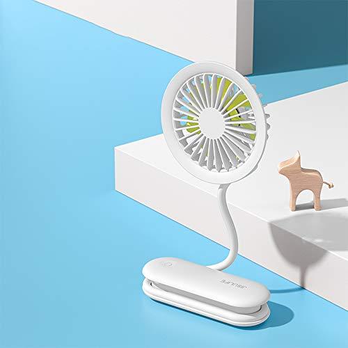 Guoz Ventilador portátil con Flujo de Aire Fuerte,Ventilador de Cuello de rotación Libre de 360 °,Ventilador de Mano Recargable USB Multifuncional para Oficina,Exterior,Cochecito de bebé