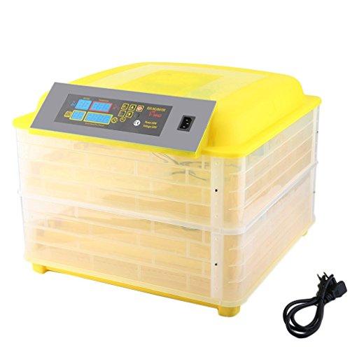 Hehilark Profesional Completamente automático Digital incubadora de Huevos con Control de Temperatura para Aves,Gallinas,Patos Huevos de Aves de Corral escotilla 96 Huevos