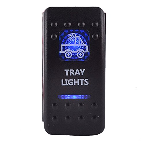 ESUPPORT Car Blue LED Tray Light Toggle Switch