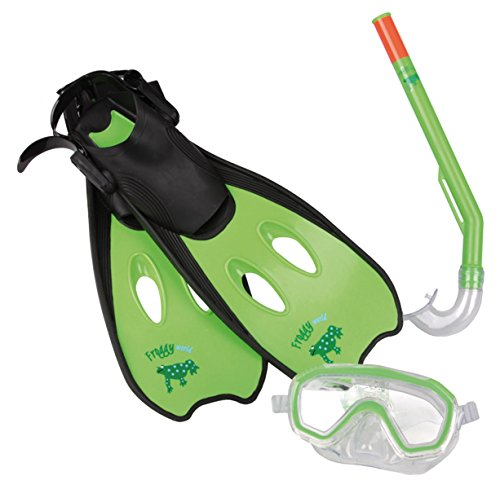 Haberkorn Kinder Tauchset Schwimmflossen Taucherbrille Schnorchel 3-6 Jahre