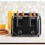 Mainstays 4-Slice Toaster, Black