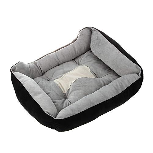 N/E Zhexundian Pet Soft Bed ,Extra Large Washable Pet Dog Puppy Cat Bed, Cushion Soft Mat Warmer Basket (Color : Black, Size : XL)