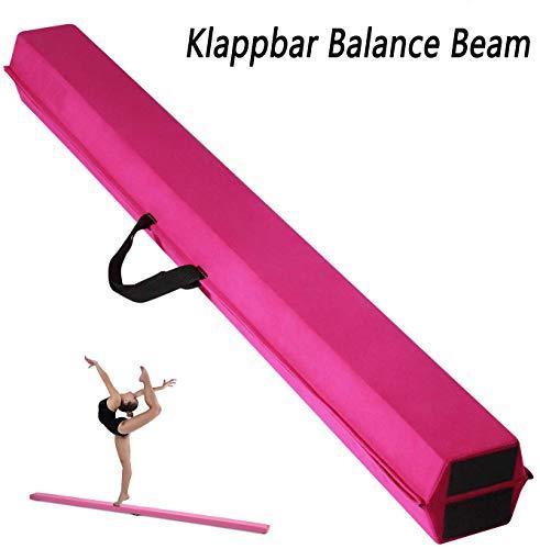 uyoyous Schwebebalken 275x(10x15) x6.5cm Klappbar Balance Beam Balance Balken Turnen Gymnastik Balance-Balken Gymnastikboden Gymnastikbalken Übungsbalken für Turnen Kinder Zuhause Holz