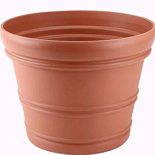Hars reliëf bloempot, gezond en milieuvriendelijk, het planten van bloempotten voor balkons, vensterbanken, vloeren, decoraties, groenten, bloemen, enz. (Kleur: wit, maat: L)