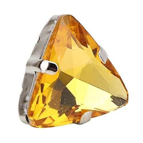 Garra de diamantes de imitación para coser diamantes de imitación de cristal gemas cinturón serie zapatos para broches boda(Crystal yellow)