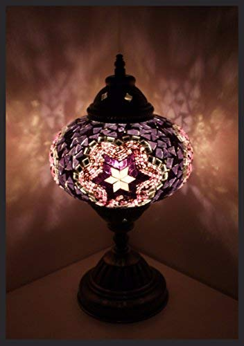 Mosaiklampe Mosaik - Tischlampe L Stehlampe orientalische lampe Lila Samarkand-Lights