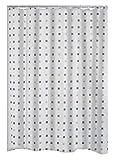 RIDDER Duschvorhang Textil Domino inkl. Ringe blau 180x200 cm