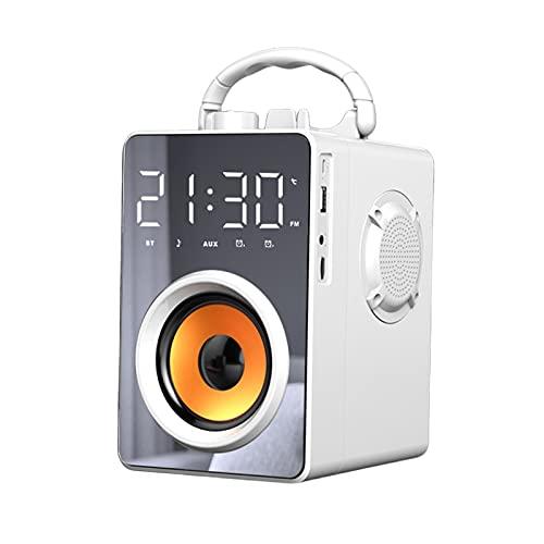 Savlot Altavoz Bluetooth Altavoz portátil Control remoto recargable Altavoz Bluetooth con 12 horas de reproducción Altavoz inalámbrico multifunción Reloj despertador Soporte para teléfono