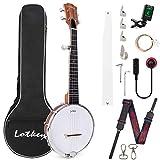 Horse Banjo 5 String 23 Inch Size con Gig Bag