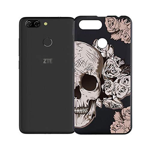 HHUAN Funda para ZTE Blade V9 Vita Negro Cover,Ultrafino Suave Silicone Caso de Protección Anti-Rasguño TPU Bumper Carcasa Case para ZTE...