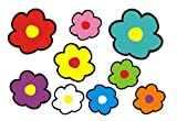 aufgeklebt.de Pegatina Adhesiva, diseño Floral: Mini Flowers 04-51 pcs