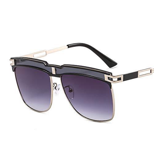 Gafas de sol personalizadas con marco grande para hombre, protección UV, gafas de conducción (C2)