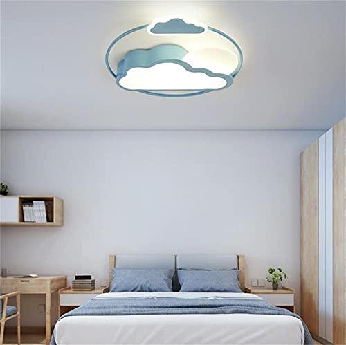 Mr.Zhang's Art Home Lámpara De Lámpara De Techo De Nube Negra Azul De Los Niños Lámpara De La Lámpara De Techo Nordic Creative Dormitorio De La Lámpara (Color : Blue)