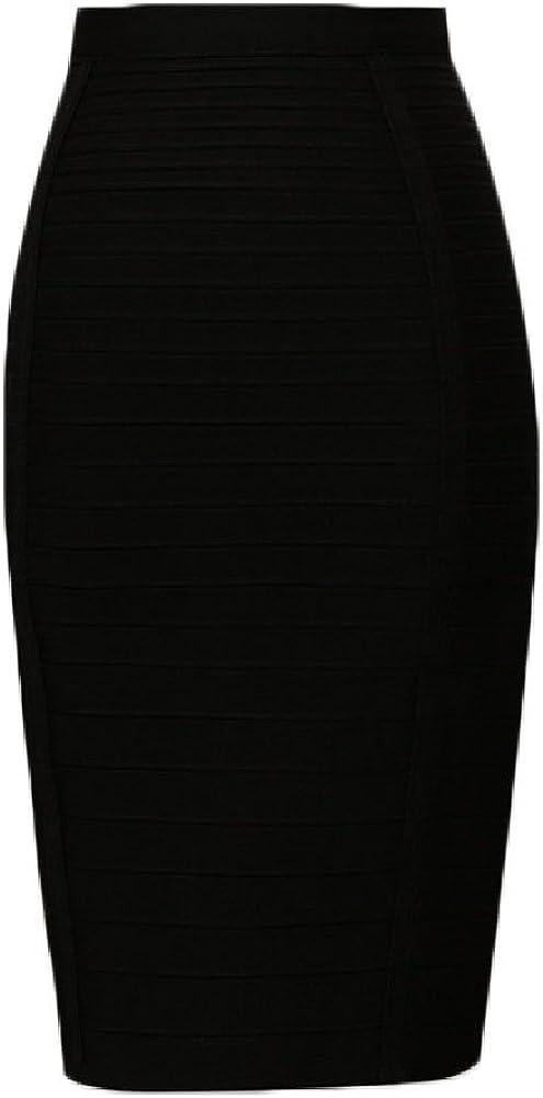 whoinshop Women's Stretchy Slim Fit Midi Bandage Pencil Skirt