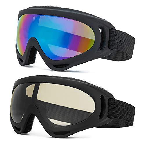 ZAIQUN Unisex Ski Goggles Windproof UV Protection,Cycling Motorcycle Snowmobile Ski Goggles, Skiing Snowboarding Goggles Outdoor Sports Ski Glasses